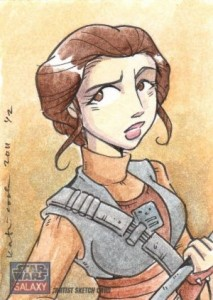 Top 10 2012 Topps Star Wars Galaxy 7 Sketch Card Sales 1