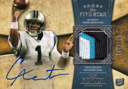 Cam Newton Rookie Cards Checklist and Autographed Memorabilia Guide 2