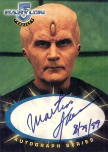 1999 Fleer Skybox Babylon 5 Profiles Autographs Martin Sheen