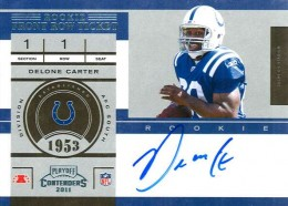 2011 Playoff Contenders Football Rookie Ticket Variation Guide 71