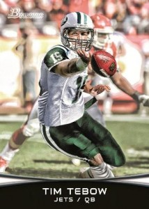Tim Tebow's First New York Jets Cards Teased by Topps and Panini 1