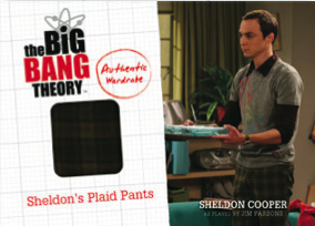 2012 Cryptozoic The Big Bang Theory Wardrobe Cards Sheldons Plaid Pants Image