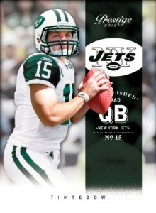 Tim Tebow's First New York Jets Cards Teased by Topps and Panini 2
