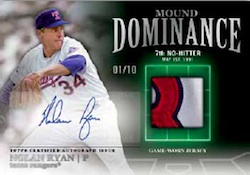 2012 Topps Series 2 Baseball Mound Dominance Autograph Relic Card