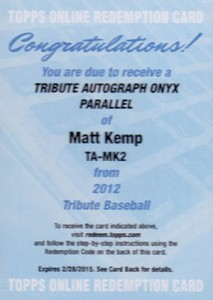 What Are the Most Valuable 2012 Topps Tribute Baseball Cards? 8