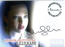 2006 Inkworks Veronica Mars Season 1 Autographs A6 Amanda Seyfried as Lilly Kane
