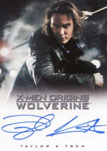 2009 Rittenhouse X-Men Origins: Wolverine Autographs Taylor Kitsch as Remy LeBeau