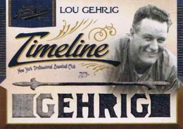 2011 Playoff Prime Cuts Timeline Patch Lou Gehrig 1/1