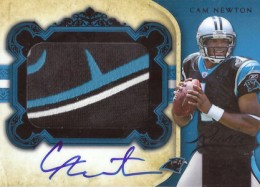 2011 National Treasures Rookie Signatures Black Cam Newton 02/25