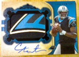 2011 National Treasures Rookie Signatures Black Cam Newton 7/25