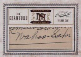 "2011 Playoff Prime Cuts Notable Nicknames Cut Signatures ""Wahoo"" Sam Crawford 1/1"