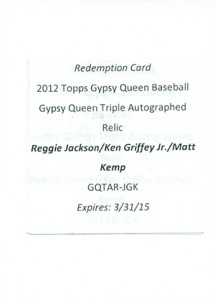 Top-Selling 2012 Topps Gypsy Queen Baseball Cards on eBay 3