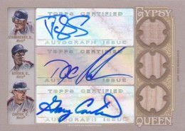 2012 Topps Gypsy Queen Triple Autograph Relic Mets