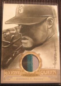2012 Topps Gypsy Queen Original Art Patch Felix Hernandez