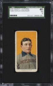 1909 T206 Honus Wagner Baseball Card SGC 40