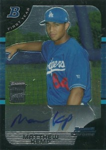 2005 Bowman Chrome Matt Kemp Autograph Rookie Card