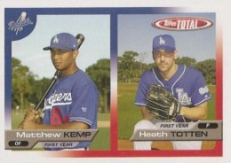 2005 Topps Total Matt Kemp Rookie Card with Heath Totten