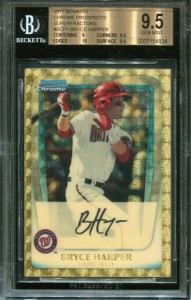 2011 Bowman Bryce Harper Superfractor Back on eBay 1