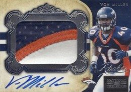 2011 National Treasures Football Autographed Patch 307 Von Miller