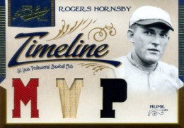 2011 Prime Cuts Timeline Triple Memorabilia Rogers Hornsby 1/1