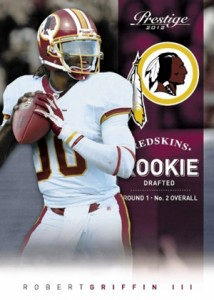 2012 Prestige Football Robert Griffin III Rookie Card