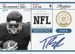 2012 Prestige Football NFL Passport Autographs Trent Richardson