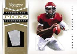 2012 Prestige Football Prestigious Picks Patch Robert Griffin III