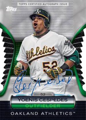 Yu Darvish and Yoenis Cespedes Autographs Added to 2012 Topps Golden Giveaway 2