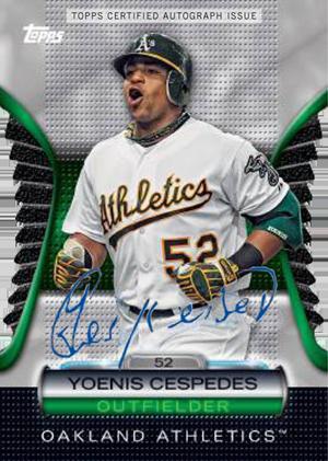 2012 Topps Baseball Golden Giveaway Autograph Yoenis Cespedes