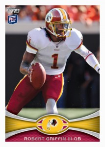 2012 Topps Football Robert Griffin III Rookie Card