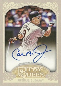 2012 Topps Gypsy Queen Autographs GQA-CR Cal Ripken Jr