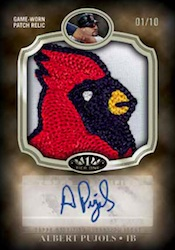 2012 Topps Tier One Baseball Autographed Prodigious Patches Card Image