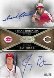 2012 Topps Tier One Baseball Dual Autograph Card Image