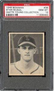 1948 Bowman Stan Musial PSA 10 - Dmitri Young Collection