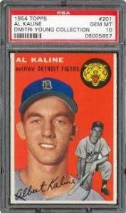1954 Topps Al Kaline PSA 10 - Dmitri Young Collection