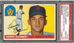 1955 Topps Harmon Killebrew PSA 10 - Dmitri Young Collection