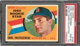 1960 Topps Carl Yastrzemski PSA 10 - Dmitri Young Collection