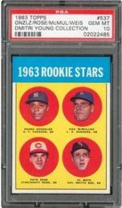 1963 Topps Pete Rose PSA 10 - Dmitri Young Collection