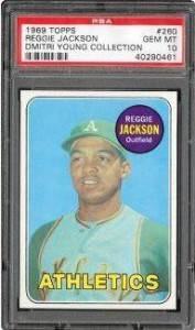 1969 Topps Reggie Jackson PSA 10 - Dmitri Young Collection
