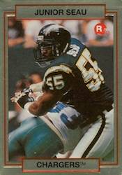 Junior Seau Cards - 1990 Action Packed Rookie Update Junior Seau