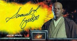 Avengers Autographs - 2005 Topps Episode III Widevision Autographs Samuel L Jackson as Mace Windu