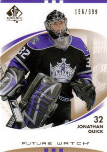 Jonathan Quick Rookie Cards and Autograph Memorabilia Guide 2