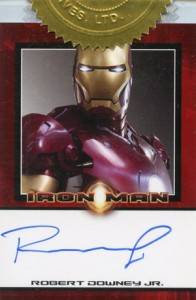 Iron Man Autographs Trading Card Guide 4