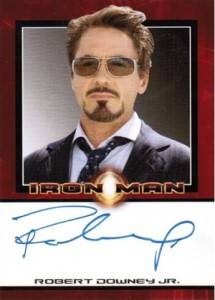 Avengers Autographs - 2008 Rittenhouse Iron Man Robert Downey Jr as Tony Stark