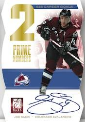 2011 12 Elite Hockey Prime Numbers Signatures Card Image