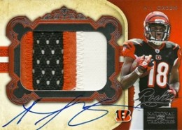 2011 National Treasures AJ Green Autographed Patch RC