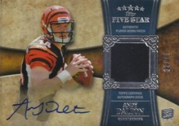 Andy Dalton Cards, Rookie Card Checklist and Autographed Memorabilia Guide 2