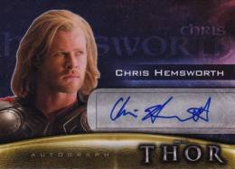 2011 Upper-Deck Thor Autographs Chris Hemsworth as Thor