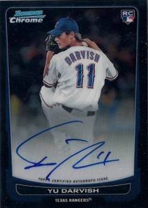 2012 Bowman Chrome Yu Darvish Autograph