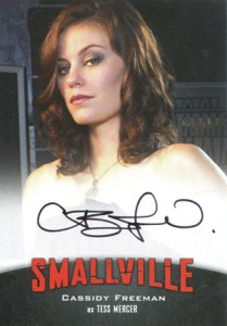 2012 Cryptozoic Smallville Seasons 7-10 Autographs A1 Cassidy Freeman as Tess Mercer